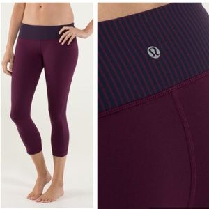 Lululemon hyper stripe crop leggings